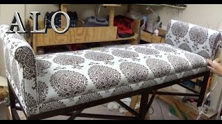 DIY - BENCH WITH ROLL ARMS -  ALO Upholstery