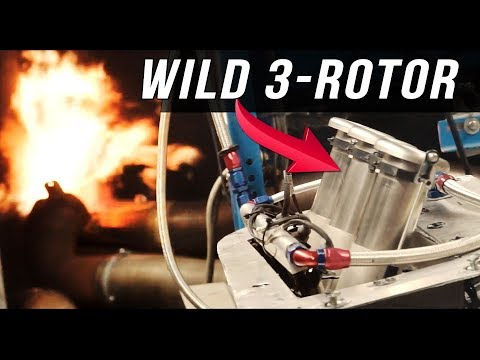 3-rotor 20B PP rotary engine dyno | The Silver Bullet