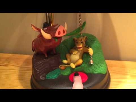 Disney Lion King Simba Pumba Desk Nursery Lamp DEMO