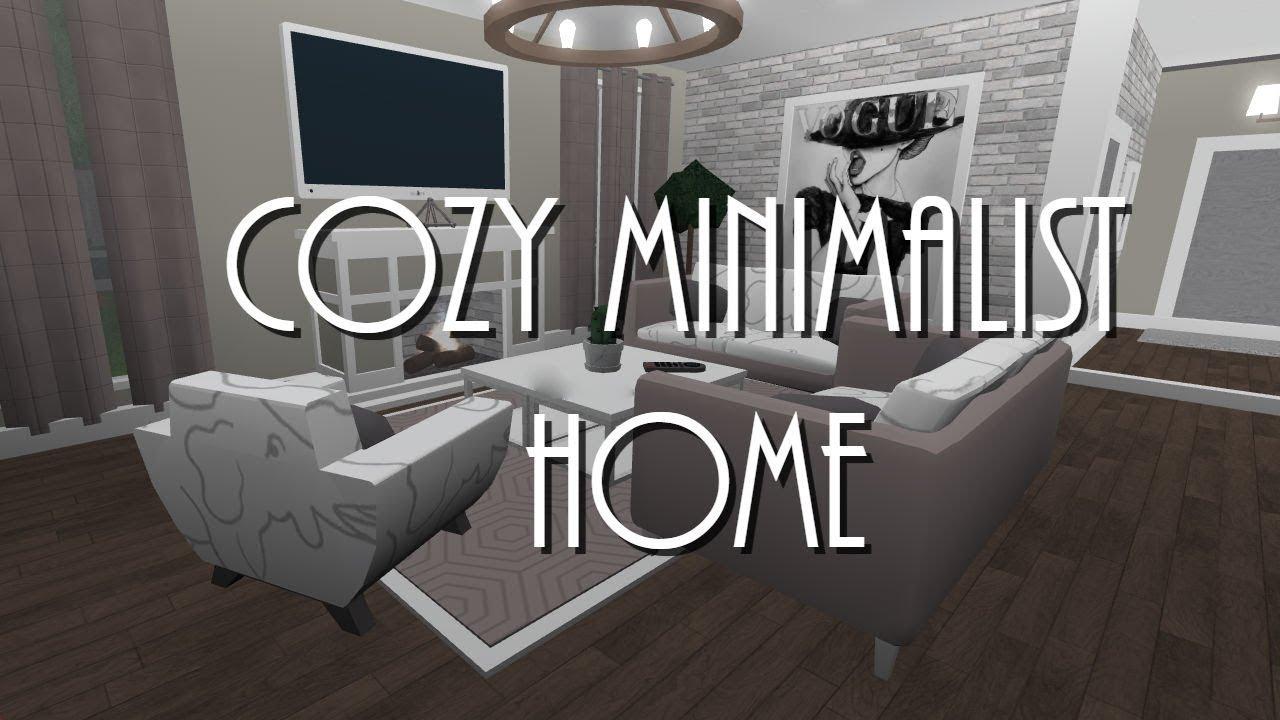 Roblox Welcome To Bloxburg Cozy Minimalist Home