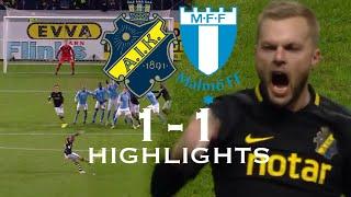AIK vs Malmö FF 1-1 Highlights | 29/10-2018 - Allsvenskan