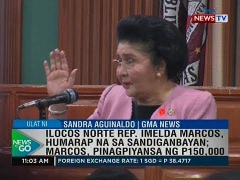 NTG: Ilocos Norte Rep. Imelda Marcos, humarap na sa Sandiganbayan; Marcos, pinagpiyansa ng P150,000