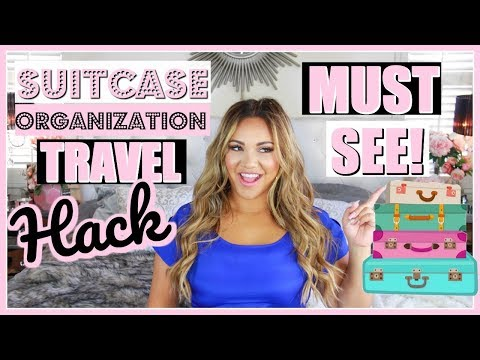 MUST SEE SUITCASE ORGANIZATION TRAVEL HACK!