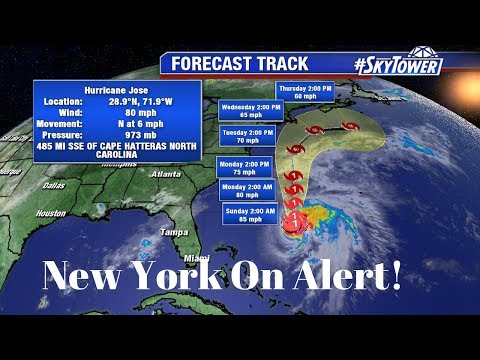 Hurricane Jose lerks off U.S  coast as new Tropical Storm Maria tracks toward the U.S