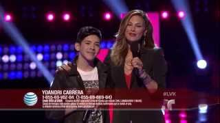 "Yoandri Cabrera canta ""Demons"" en La Voz Kids (VIDEO)"