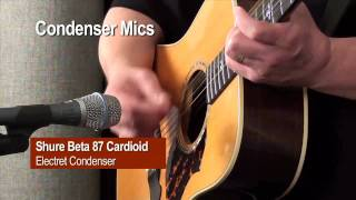 Recording Acoustic Guitar—Comparisons of Dynamic, Condenser, and Ribbon Mics on Acoustic Guitar