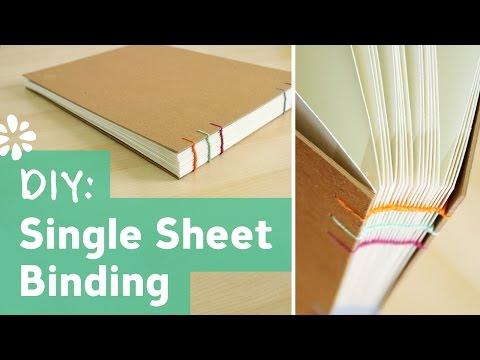 DIY Single Sheet Bookbinding Tutorial | Sea Lemon