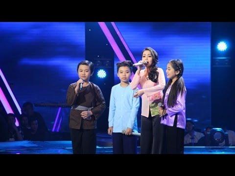 Chung kết Giọng hát Việt nhí 2015 - Chiếc áo bà ba & Bài ca Đất phương Nam - Team Cẩm Ly [Fancam]