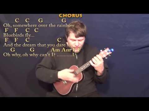 Over the Rainbow/Wonderful World - Ukulele Cover Lesson with Chords/Lyrics