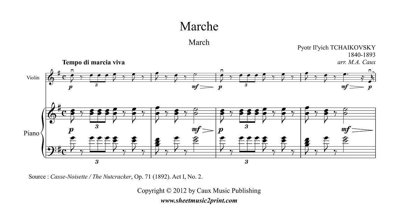 The Nutcracker March Violin Sheet Music