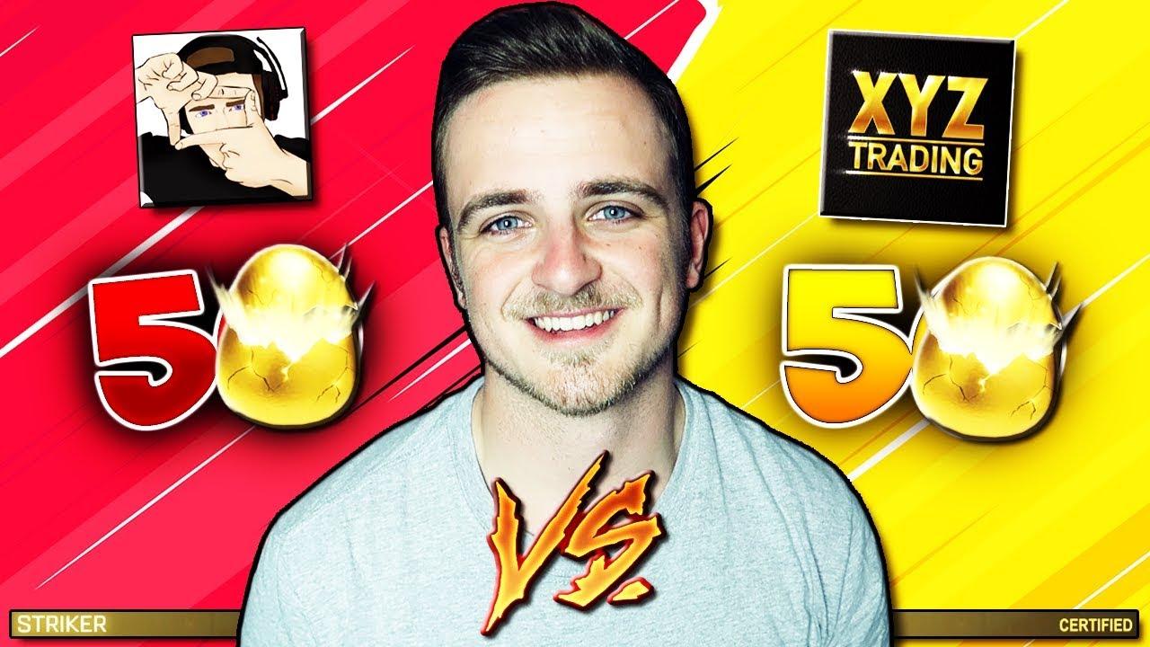 50 VS 50 Golden Egg CRATE Opening! | Biggest Golden Egg ...