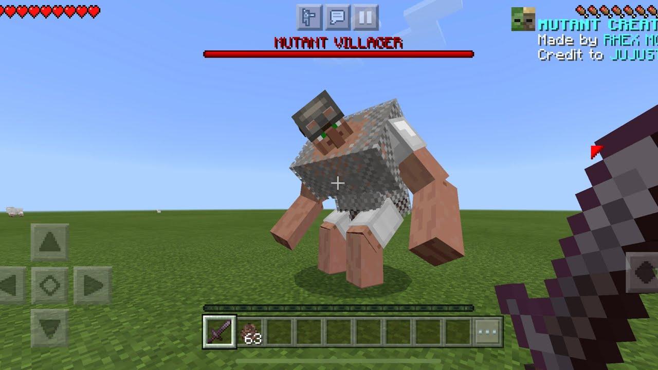 Mutant Creatures V2 MOD in Minecraft PE