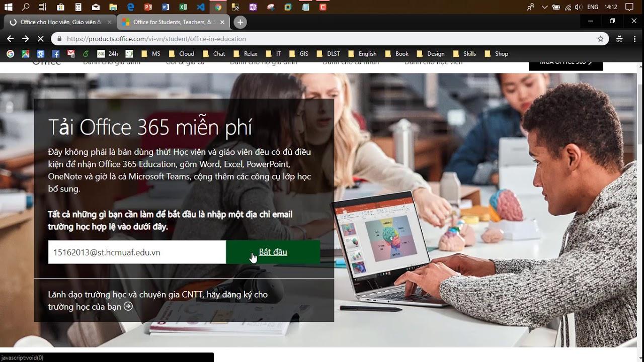 Đăng ký sử dụng Office 365 Education FREE OneDrive 1TB