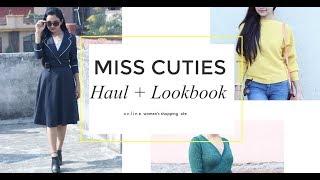 LOOKBOOK + HAUL VIDEO | EXPLORING MISS CUTIES ONLINE SHOPPING SITE | Miss Priya TV |