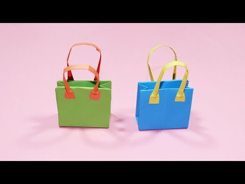 How to Make a Beautiful Paper Bag - Paper Bag Making at Home