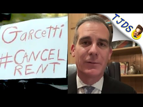 Renters Protest LA's Mayor's Home In Their Cars!