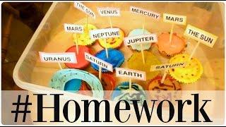 Solar System Homework cup cake Project  |   twoplustwocrew