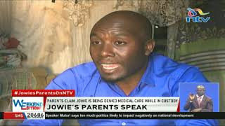 Jowie Irungu's parents claim their son is being denied medical care while in custody