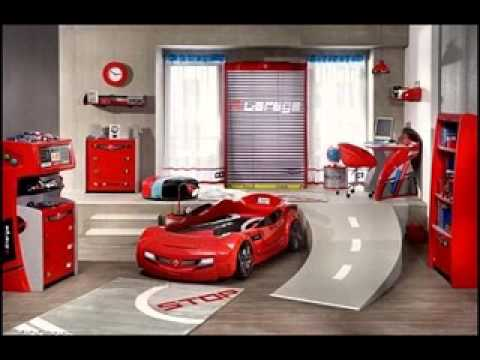 Disney cars bedroom decor youtube for Boy car bedroom ideas
