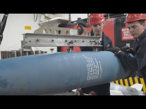 RARE LOOK inside the AMMUNITION MAGAZINE of the Wasp-class amphibious ASSAULT SHIP USS Essex!