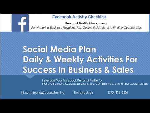 Facebook Personal Profile - 15 Daily Actions