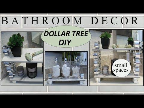 BATHROOM DECOR (2019) | Dollar Tree DIY | Small Bathroom Ideas