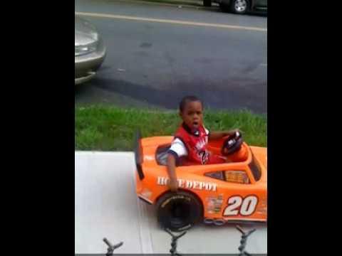 4 Year Old Driving Power Wheels (Beenie B)