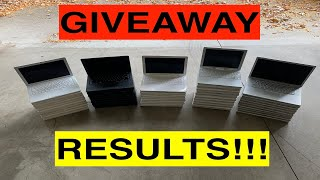50-Laptop Giveaway Contest Results!!!