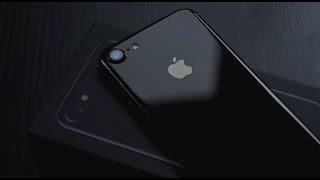 Распаковка iPhone7 Jet Black - первые впечатления
