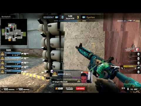 CS:GO Minor Championship EUROPE (Playoff) Epsilon vs Godsent- map 2 (Cache)