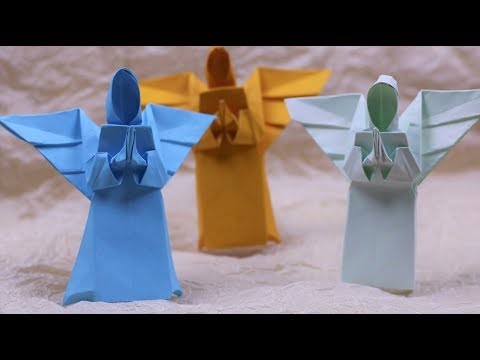 Paper Folding Art (Origami): How to Make Angel