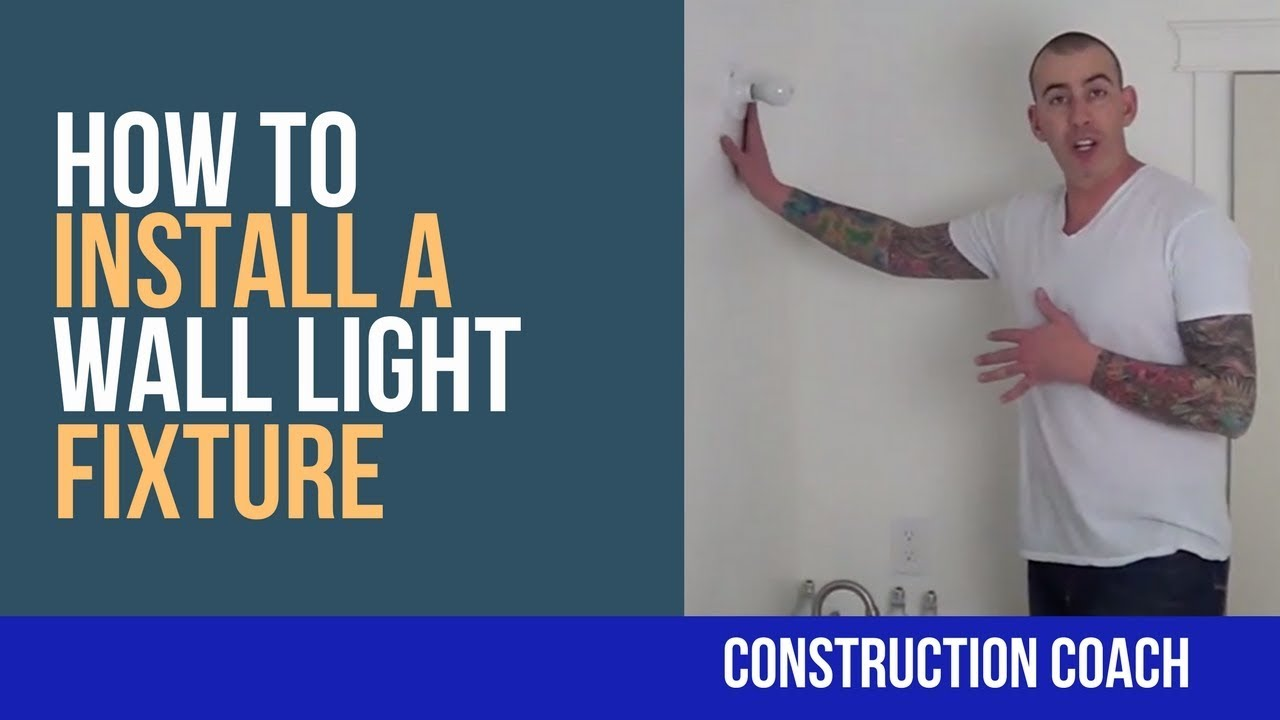How to Install a Wall Light Fixture - DIY - YouTube