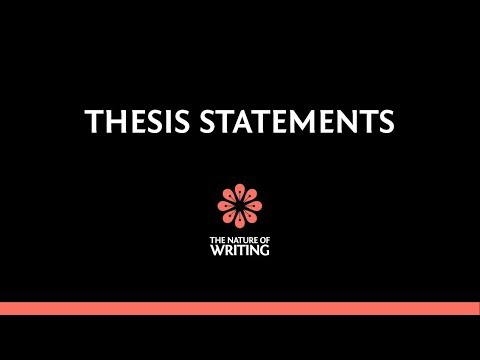 Introduction to Thesis Statements