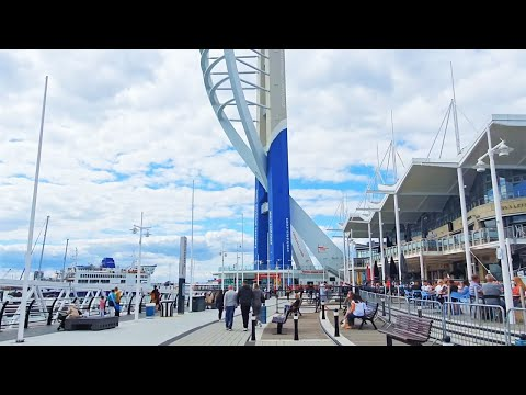 portsmouth-uk-|-gunwharf-quays-shopping-centre-post-lockdown-walking-tour