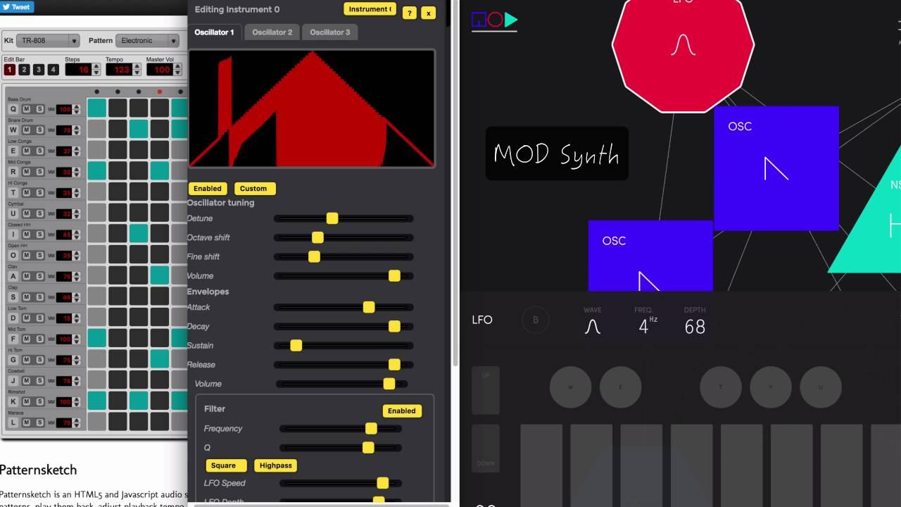 MOD Synth - Web MIDI