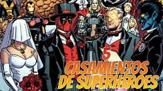 5 CASAMIENTOS DE SUPERHEROES | Zona Freak