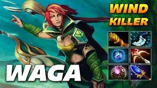 WAGA WINDRANGER HARD CARRY - Dota 2 Pro Gameplay