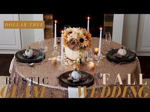 DIY Fall Wedding Decoration Ideas   Rustic Wedding Decor   Dollar Tree Fall Wedding Decoration Ideas