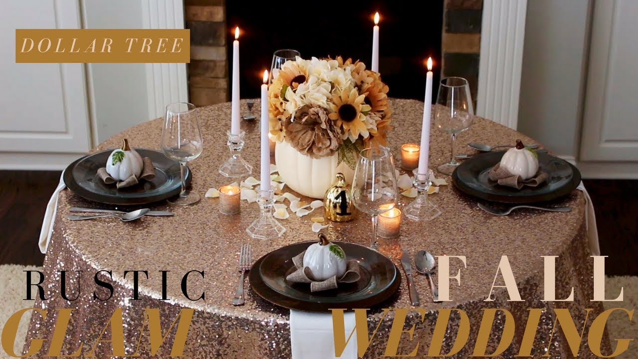 DIY FALL WEDDING CENTERPIECE | RUSTIC WEDDING DECOR | DOLLAR TREE ...