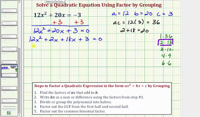 Quadratic Equations | Intermediate Algebra