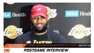 LeBron James postgame Mavericks vs Lakers NBA Scrimmage 7.23.20