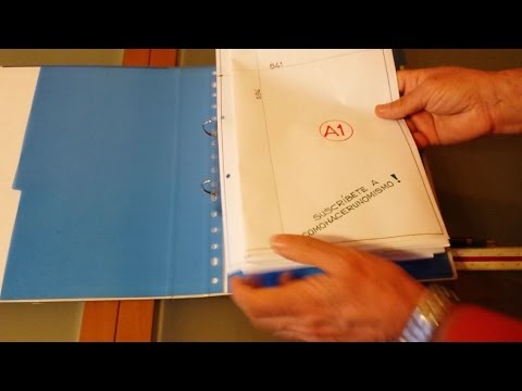How to fold DIN A1 to fit in DIN A4 ring binder