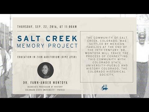 "Fawn-Amber Montoya - ""Salt Creek Memory Project"""