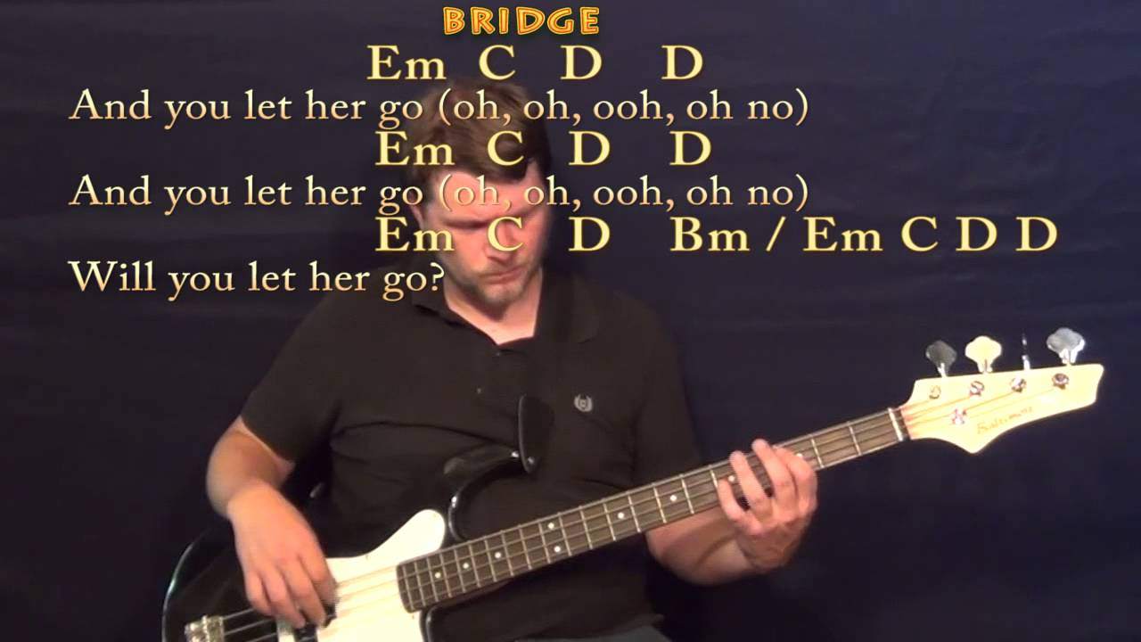 Let Her Go Passenger Bass Guitar Cover Lesson With Chords Lyrics