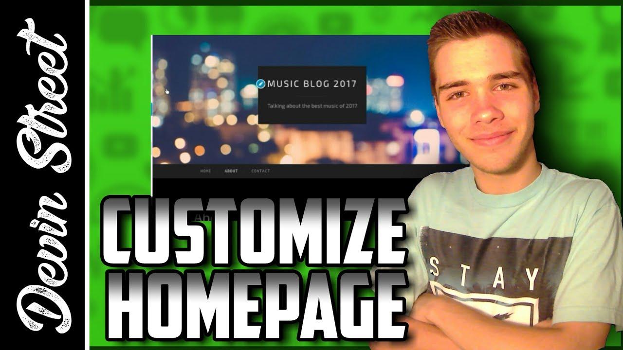 how to change homepage wordpress