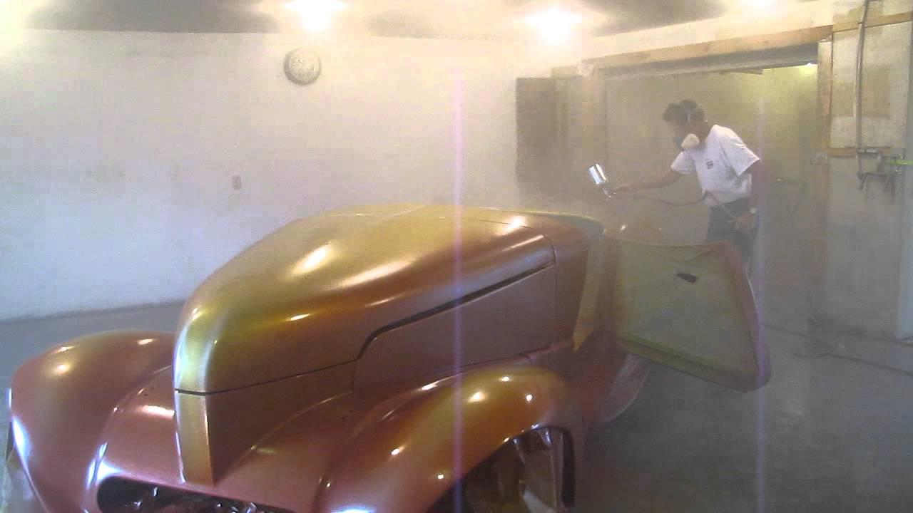 Custom Car Paint >> Day 2 -1939 Cruella DeVil Blended Paint Job with Gene Winfield - YouTube