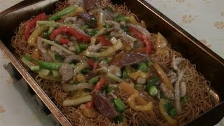 Chicken And Vegetable Chow Mein With Oven Baked Noodles