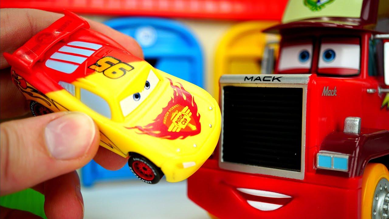 Disney Cars Lightning McQueen रंग बदलने वाले वाहनों से जानें रंग!