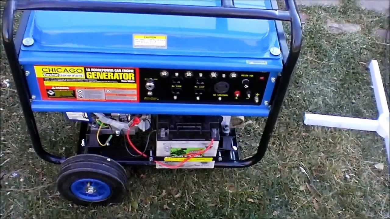 Harbor Freight 13hp 5500w 6500wmax Generator Youtube Solar Panel Wiring Diagram