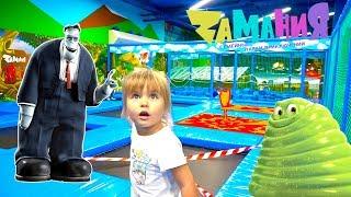 Оливия приехала в семейный парк приключений Zамания   детский развлекательный центр замания.